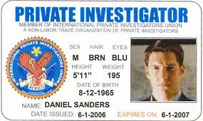 New pi union license get a look at the new sample private for Sample private investigator business cards